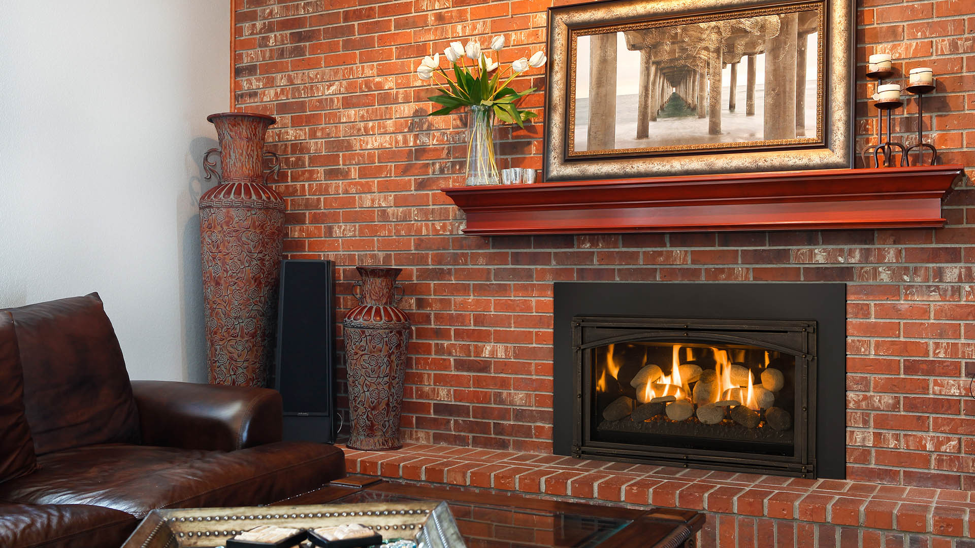 Efficiency of gas fireplace - Inserts