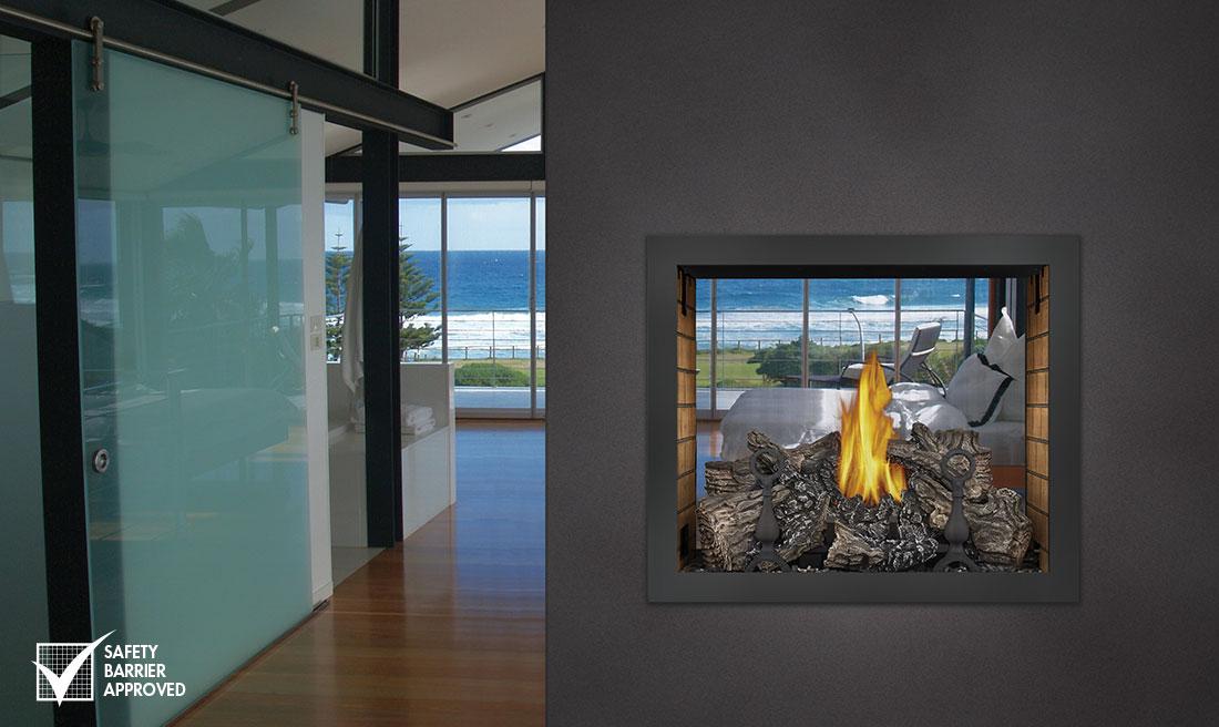 Gas Fireplace see thru gas fireplace : Gas Fireplaces, Eugene Springfield | Ambassador Fireplaces